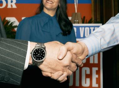 A man wearing a Gucci Watch