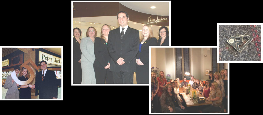 A montage of images showing member of staff