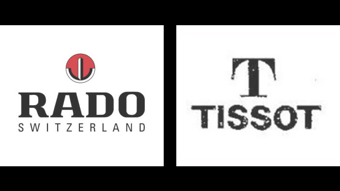 The Rado & Tissot Logos, as they were is 1996