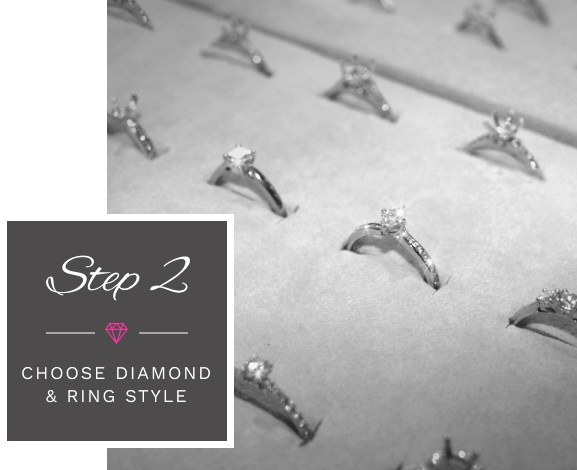Step 2: Choose Diamond and Ring Style
